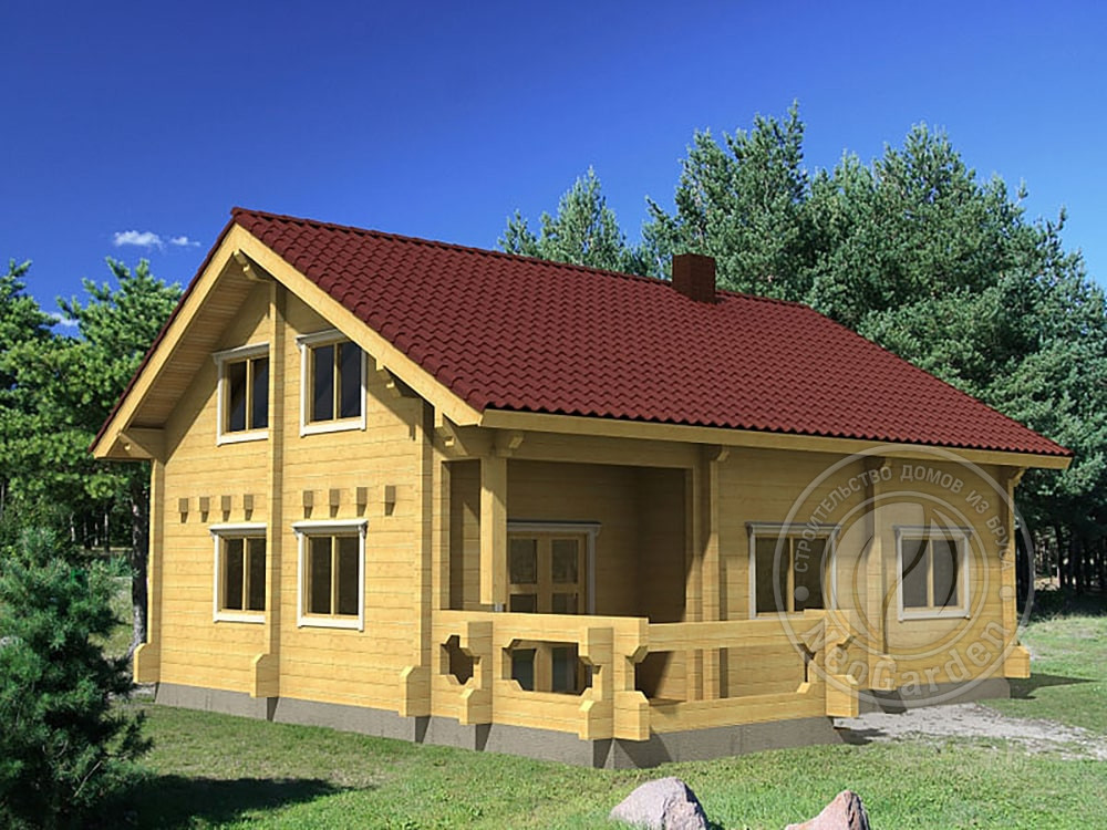 Дом из бруса «Иллинойс»: высокое качество и доступная цена