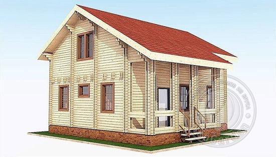 Зимний деревянный дом из бруса «Аполлон»