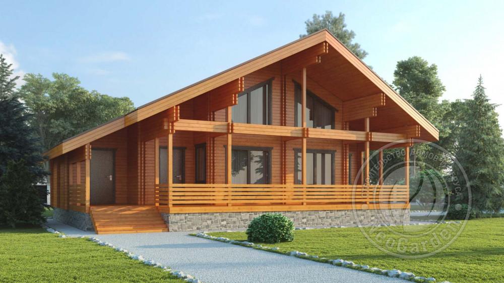 Зимний дом из бруса для постоянного проживания «Джорджио»