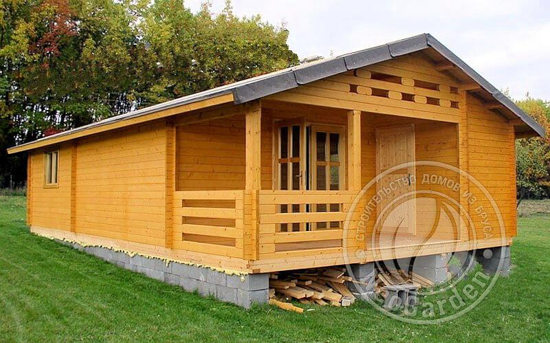 Деревянные садовые домики «Леон» под ключ: