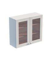 Шкаф навесной 800 х 300 х 720 под стекло, сосна, эмаль