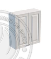 Шкаф навесной 800 х 300 х 900 под стекло, сосна, эмаль