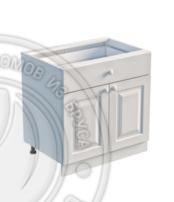 Тумба 2 двери, 1 ящик 800 х 560 х 720 сосна, эмаль