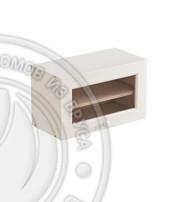 Шкаф навесной 600 х 300 х 360, под стекло, сосна, эмаль