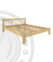 Кровать Дачная 1800 х 2000 сосна, бесцветный лак