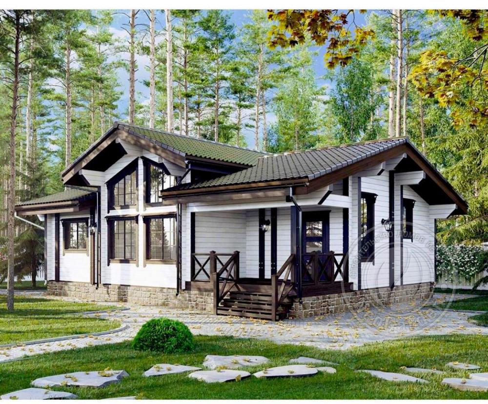 Зимний дом из экобруса