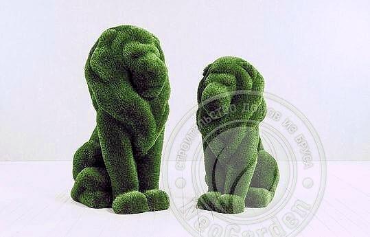 Статуя топиари - Два льва