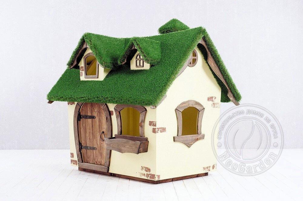 Детский домик с крышей топиари