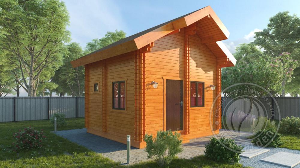 Дачный зимний дом из двойного бруса