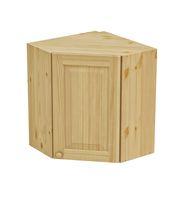 Шкаф навесной угловой 600 х 600 х 300 х 720 филенка, сосна, бесцветный лак