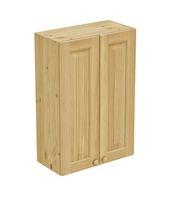 Шкаф навесной 600 х 300 х 900 филенка, сосна, без покраски