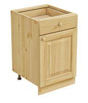 Тумба 1 дверь, 1 ящик 500 х 560 х 720 сосна, бесцветный лак