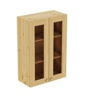 Шкаф навесной 600 х 300 х 900 под стекло, сосна, бесцветный лак