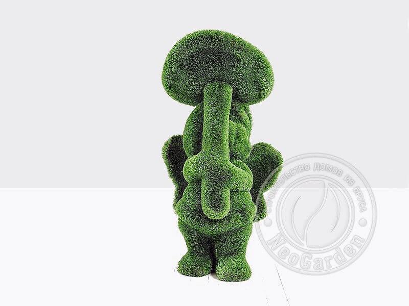 Топиари - Девочка с грибом