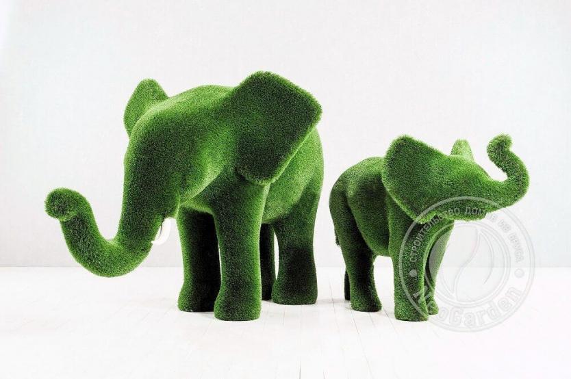 Топиари - Слон и слонёнок