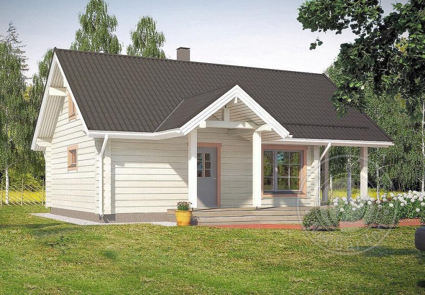 Дачный дом из 165мм бруса с баней