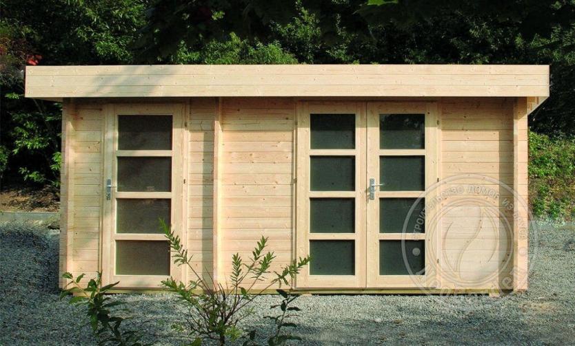 Садовый домик из бруса «Модерн 2»