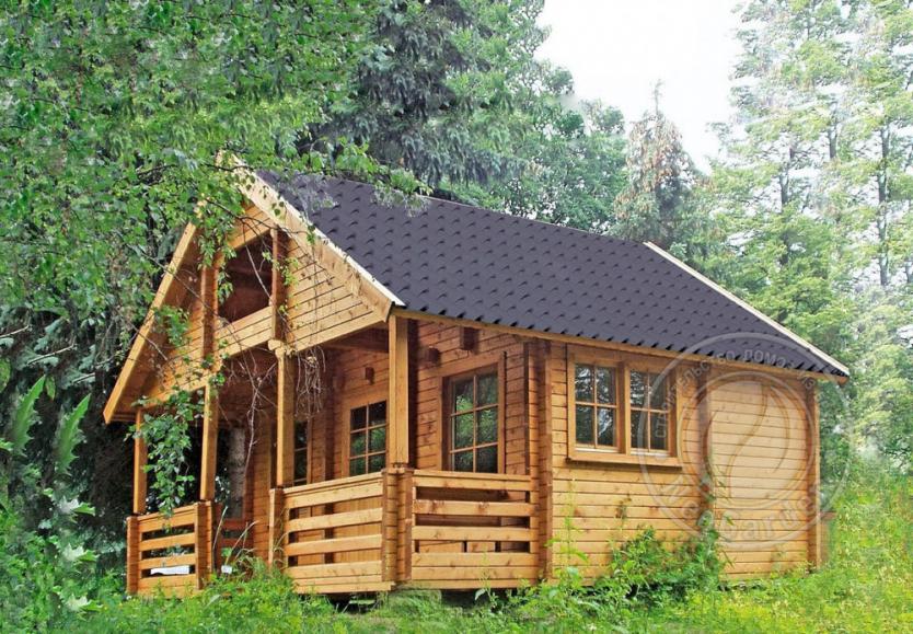 Зимний деревянный дом из двойного бруса