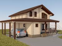 Зимний дом из двойного бруса