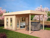 Садовый домик из бруса 45 мм «Нью»