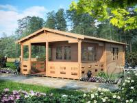 Дачный домик из мини бруса