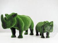 Статуя топиари - Два носорога