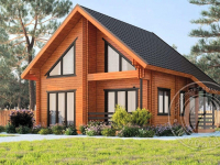 Деревянный дом из двойного бруса