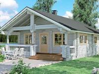 Одноэтажный дачный дом из 165мм бруса