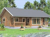 Дачный дом с баней из бруса 70 мм