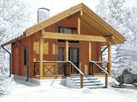 Дачный зимний домик из бруса 165мм