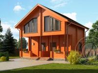 Дом на две семьи  из бруса 165мм