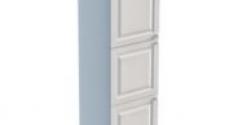 Пенал 2220 х 600 х 560 филенка, 3 двери (с полками), сосна, эмаль