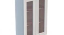 Шкаф навесной 600 х 300 х 900 под стекло, сосна, эмаль