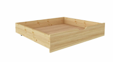Ящик подкроватный 980 х 870 сосна, бесцветный лак