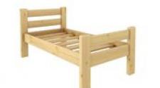 Кровать Классика 700 х 1600 сосна, бесцветный лак
