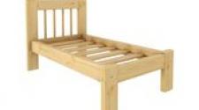 Кровать Дачная 600 х 1400 сосна, бесцветный лак