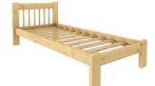 Кровать Дачная 800 х 1900 сосна, бесцветный лак