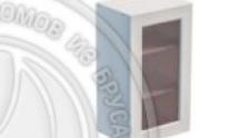 Шкаф навесной 400 х 300 х 720 под стекло, сосна, эмаль