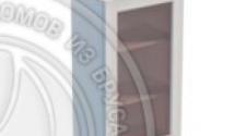 Шкаф навесной 500 х 300 х 900 под стекло, сосна, эмаль