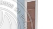 Шкаф навесной 450 х 300 х 900 под стекло, сосна, эмаль