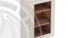 Шкаф навесной 500 х 300 х 720 под стекло, сосна, масло