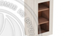 Шкаф навесной 400 х 300 х 720 под стекло, сосна, масло