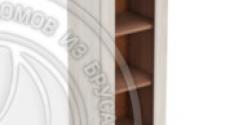 Шкаф навесной 400 х 300 х 900 под стекло, сосна, масло