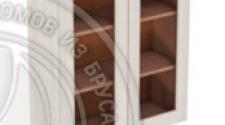 Шкаф навесной 800 х 300 х 900 под стекло, сосна, масло