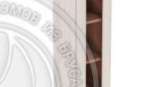 Шкаф навесной 300 х 300 х 900 под стекло, сосна, масло