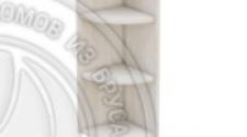 Шкаф-стеллаж заверш 280 х 280 х 900 открытый, сосна, масло