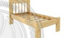 Кровать Дачная 600 х 1200 сосна, бесцветный лак
