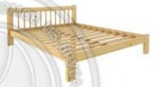 Кровать Дачная 1200 х 1900 сосна, бесцветный лак
