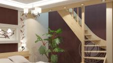 Деревянная г-образная лестница ЛС-07м-4