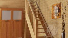 Деревянная лестница с прямым маршем ЛС-215м